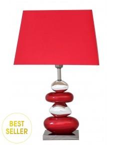 Stolní lampa oblázková červená - Pebble Lamp