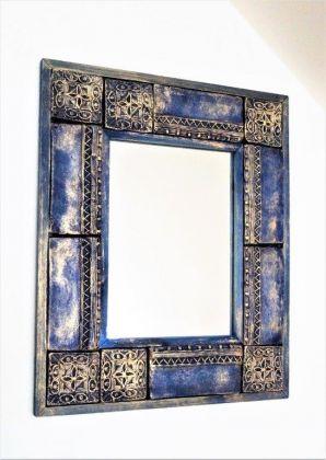 Zrcadlo vykládané / modrozlaté