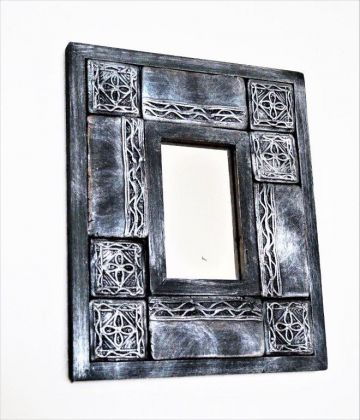 Zrcadlo vykládané / uhlovostříbrné