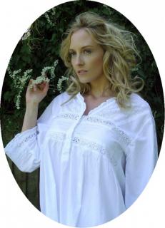 Noční košilka Elizabeth ze 100% indické bavlny