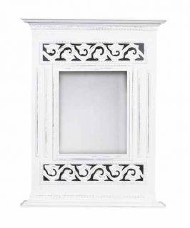 Stylové zrcadlo v bílé barvě
