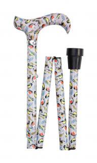 Vycházková skládací hůlka/4845C - zpěvné ptactvo UK